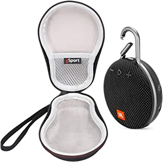 JBL Clip 3 IPX7 Waterproof Portable Bluetooth Speaker On-The-Go Bundle with gSport Deluxe Travel Case (Black)