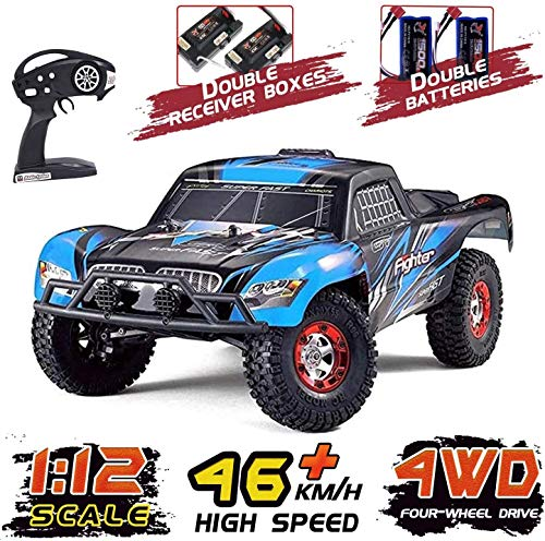 Tecesy RC Cars, 1/12 Scale 4WD Off-Road Remote Control Car, High Speed 25Mph RC Truck/Monster Truck, Best RC Buggy Toy for Adults-Blue