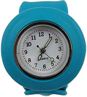 Acczilla Slap Watch - Silicone Slap On Watch - Aqua Blue - Childrens Size