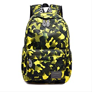 Backpack Printed Sports Backpack, Oxford Cloth Multi-Functional Rucksack, Waterproof High Capacity Travel Bag, Anti Theft Outdoor Backpack 42x13x28cm Red (Color : Yellow, Size : 42x13x28cm)