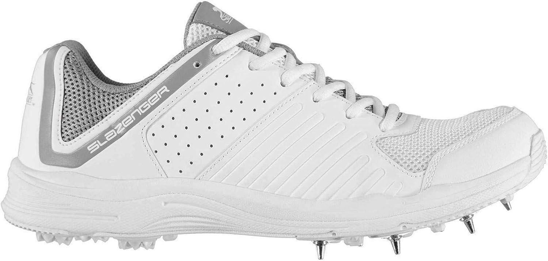 Officiell Brand Slazenger Slazenger Slazenger V Series Cricket skor herr vit  Charkole Spikes Trainers Footwear  låg 40% pris