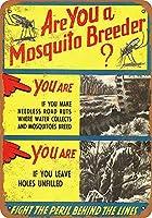 あなたは蚊の繁殖家のブリキ看板の装飾ヴィンテージ壁金属プラークカフェバー映画ギフト結婚式の誕生日の警告のためのレトロな鉄の絵