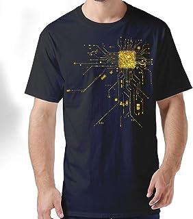 ZYXcustom Computer CPU Core Heart Geek Nerk Pc Gamer Men's Short-Sleeve T-Shirt