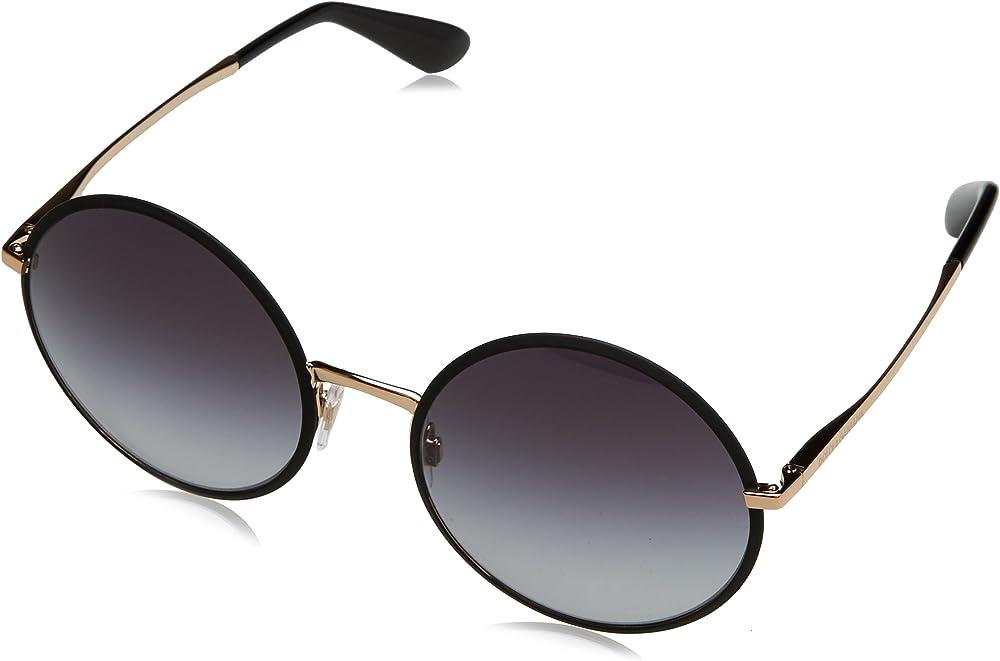 Dolce & gabbana, occhiali da sole per donna, montatura in metallo, lenti colore GRIGIO DG2155 C56