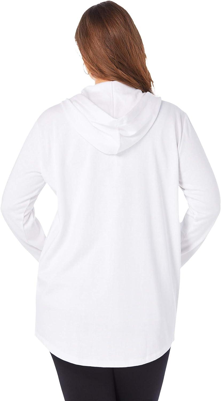 Roaman's Women's Plus Size Fleece Zip Hoodie Jacket