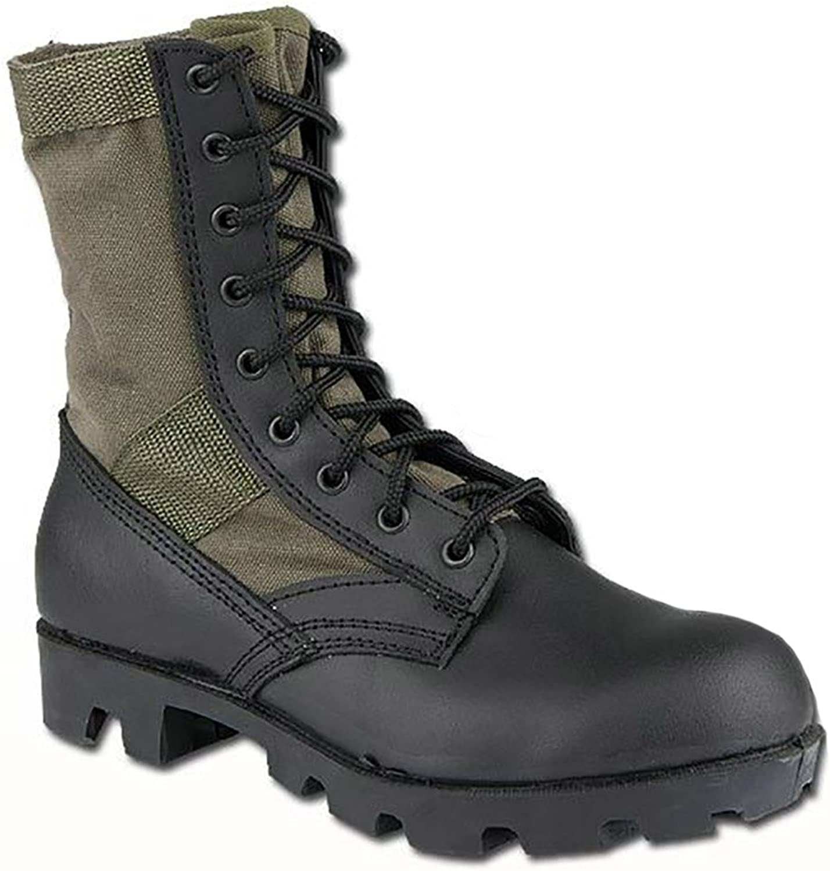 US Army Combat Vietnam Era Jungle Mens Boots Military Panama Sole Olive