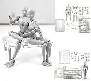 Body Kun Doll PVC Body-Chan DX Set 2.0 Gray Color for SHF Body Kun DX Set Male & Female Action Figure Model Set