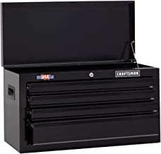 CRAFTSMAN Tool Chest with Drawer Liner Roll, 26-Inch, 4 Drawer, Black (CMST82764BK)