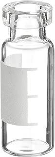 National Scientific Clear Glass I-D Crimp Top Vial, Flat Base, 11mm Crimp Top, 12mm Diameter x 32mm Height (Case of 100)