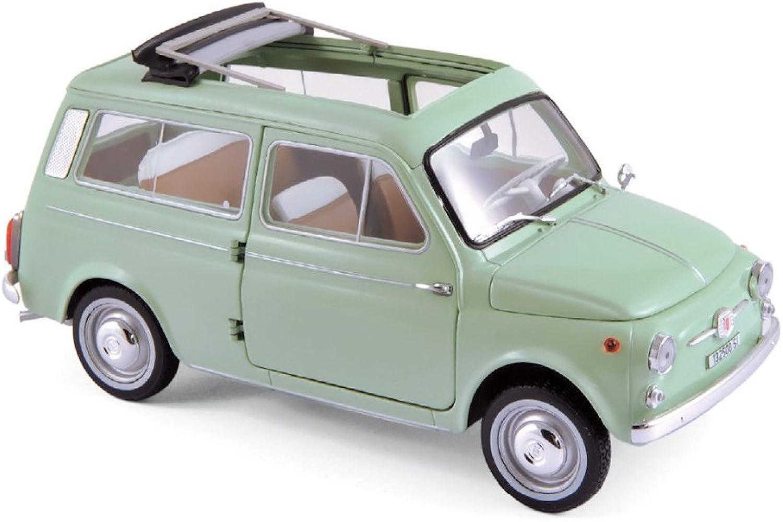 Fiat 500 Giardiniera, vert clair, 1962, voiture miniature, Miniature déjà montée, Norev 1 18