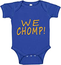 Southern Sisters We Chomp in The Swamp FL Baby Romper Blue and Orange for Littlest Sports Fans