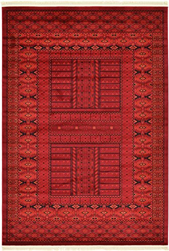 Unique Loom Tekke Collection Tribal Traditional Torkaman Red Runner Rug (2' 7 x 10' 0)