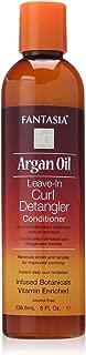 Fantasia Argan Oil Leave-In Curl Detangler Conditioner, 8 oz (Pack of 4)