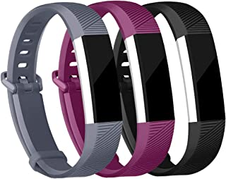 iGK Replacement Bands Compatible for Fitbit Alta and Fitbit Alta HR, Newest Adjustable Sport Strap Smartwatch Fitness Wristbands 3 Packs