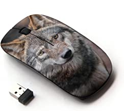 KOOLmouse [ Optical 2.4G Wireless Mouse ] [ Wolf Wild Dog Brown Forest Fairytale Eyes ]
