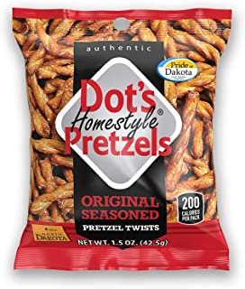 Dots Homestyle Pretzels 1.5 oz. Bags (20 Pack) Lunchbox Sized Seasoned Pretzel Snack Sticks