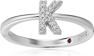 Roberto Coin Women's 001634AWLRXK Diamond Initial Ring, White, Size 7