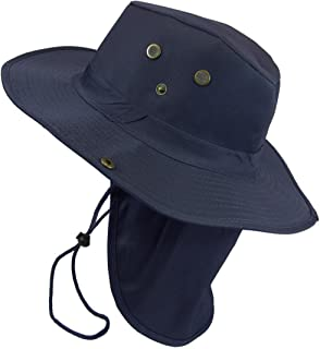 0198c75c Bucket Sun Flap Hat Cap Fishing Hiking Army Military Snap Brim Neck Cover