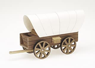 Darice 9181-24 Wooden Model, Cover Wagon Kit, 8.5 x 4.5-Inches