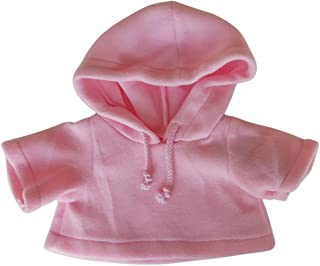 "6/"" BEAR CLOTHES VELOUR ZIP UP PINK//BLUE BUTTERFLY OUTFIT NEW"