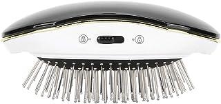 Cepillo secador de pelo, cepillo térmico para alisar, cepillo alisador iónico de cerámica eléctrico, peine alisador rizador, secado rápido, para salón profesional en casa(Negro)