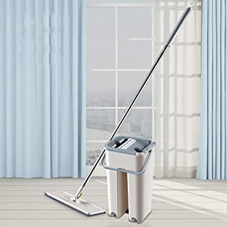 In-House Floor Mop Set, Durable Flat Mop and Mop Bucket, Mop with Stainless Steel Telescopic Pole Extendable Handle Mopsti...