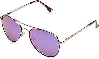 SE6010 Gafas de sol, Rosa (Shiny Rose Gold/Smoke Polarized), 56 Unisex Adulto