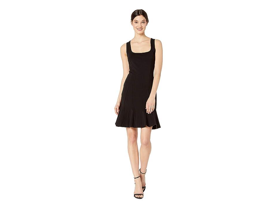 Bebe Godet Dress (Jet Black) Women