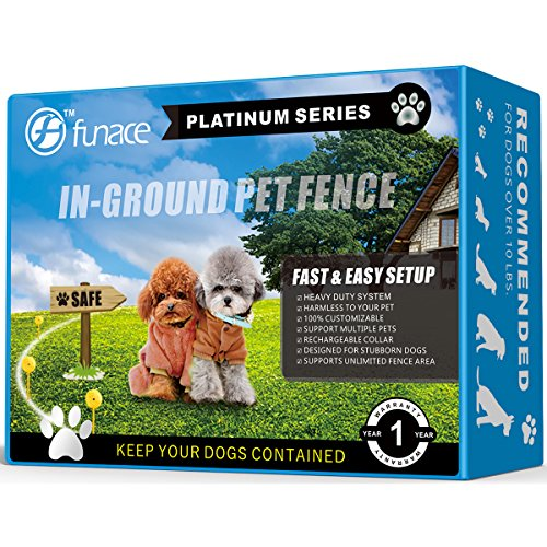 InGround Pet Fence Dog Containment - Platinum Electric Pet Fence - Rechargeable and Waterproof Receiver & 1500 Feet 20# Wire - Electric InGround Hidden Boundary Wire Containment System for 1 Dog