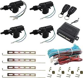Henzxi Universal Car Power Door Lock Actuator 12V Motor (4 Actuactors + Keyless Entry)