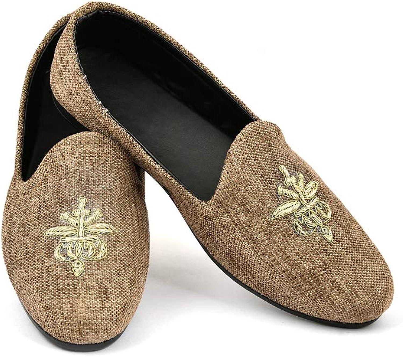 Lalhaveli Indian Design Casual Loafer Falt shoes Brown color