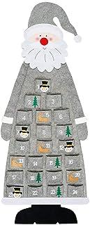 ROOYA BABY Direct-JP クリスマス アドベントカレンダー 壁掛けカウントダウン クリスマス サンタ ポケット付き 24個入りセット DIYデコレーション クリスマス装飾  取り外し可能 部屋 壁 玄関