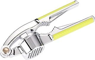 JUSONEY Presse-ail Brosse de Nettoyage pour cuill/ère /à lail et /à lor concasseur /à lail en Acier Inoxydable avec /éplucheur /à lail en Silicone approuv/é par la FDA