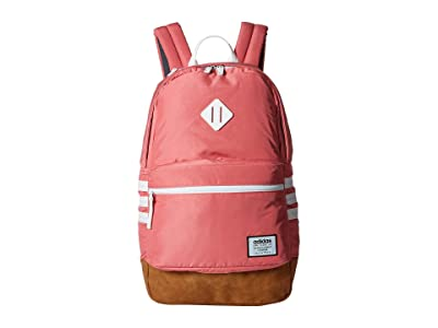 adidas Classic 3S Plus Backpack (Bliss Pink/White) Backpack Bags