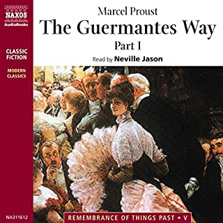The Guermantes Way, Part 1                   By:                                                                                                                                 Marcel Proust                               Narrated by:                                                                                                                                 Neville Jason                      Length: 3 hrs and 56 mins     33 ratings     Overall 4.5