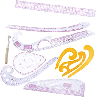 D DOLITY 10ピース/セット 縫製定規 フレンチカーブ メトリックルーラー 多機能 ドローイング テンプレート