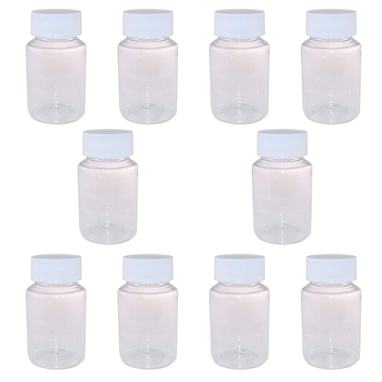Tegg Free shipping / New Reagent Bottle 10PCS 80ml Plastic Transparent Ca Pill OFFicial shop Empty