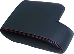 Autoguru BMW E36 325 328 318 323Center Console Armrest Synthetic Leather Cover Black, Red Stitch for 92-99