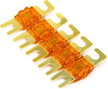 ZOOKOTO 5 Pack ANL Fuses 150Amp Gold Plated Fuse