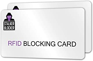 C-Slide RFID Blocking Card 2 Pack - NFC Contactless Bank Debit Credit Card Protector Blocker -Protect Wallet and Purse from Electronic Theft