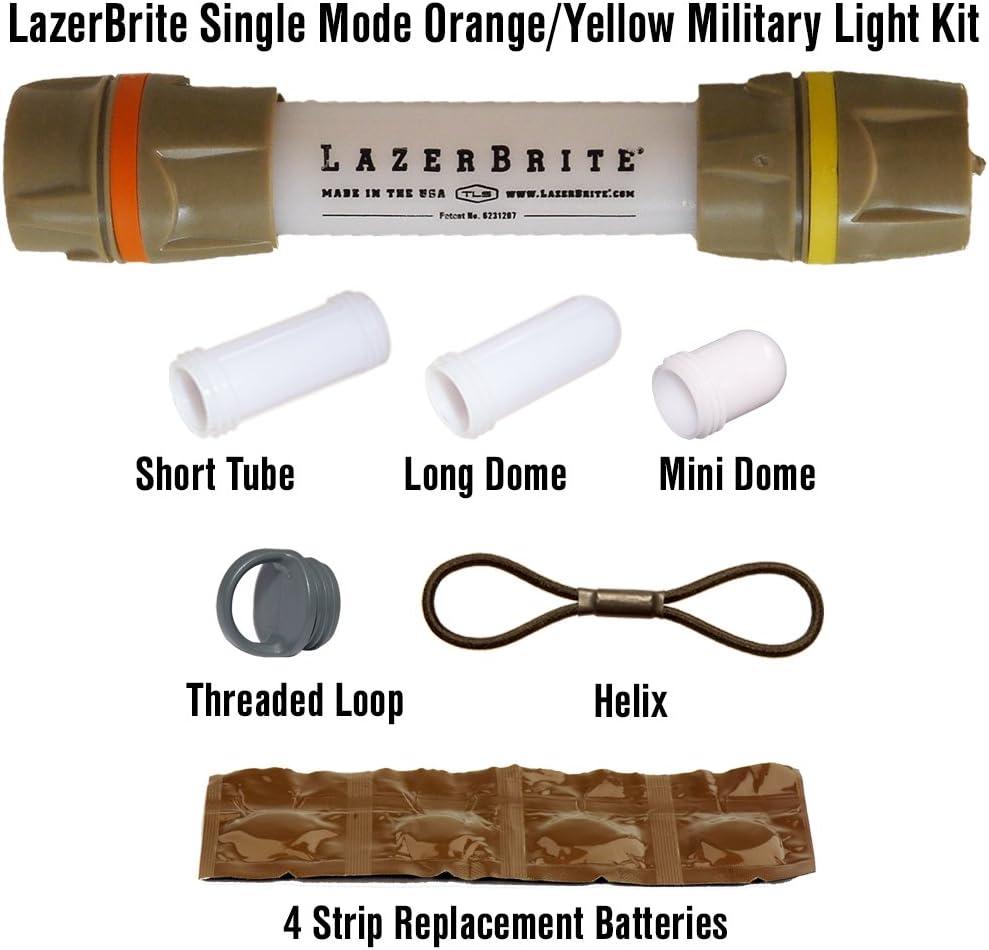 Lazerbrite Single Reservation Mode Orange Yellow Kit Light Military Free shipping on posting reviews