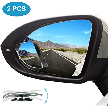 Blind Spot Mirror Blind spot Mirrors for Cars HD Glass Convex Rear View Mirror 2 Packs Angle Adjustable Mirror Side Mirror Blind Spot for All Cars