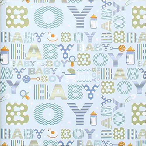 Papel de regalo, ancho: 50 cm, bebé niño, 5 m