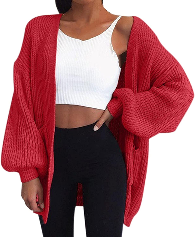 SERYU Womens Cardigan Draped Kimono Cardigans Long Sleeve Open Front Casual Knit Sweaters Coat Outwear