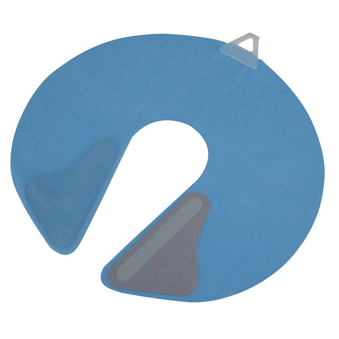 印象的な円形の学者竹家 ネックシャッター ブルー