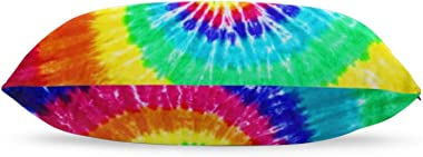 AERICKON Colorful Tie Dye Pillowcase for Hair and Skin - Queen Size (20 x 30 inches) Bed Pillow Cover - Brushed Microfiber, W
