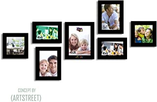 Art street Heptad Set of Photo Frames Wall - Set of 7 Individual Photo Frames