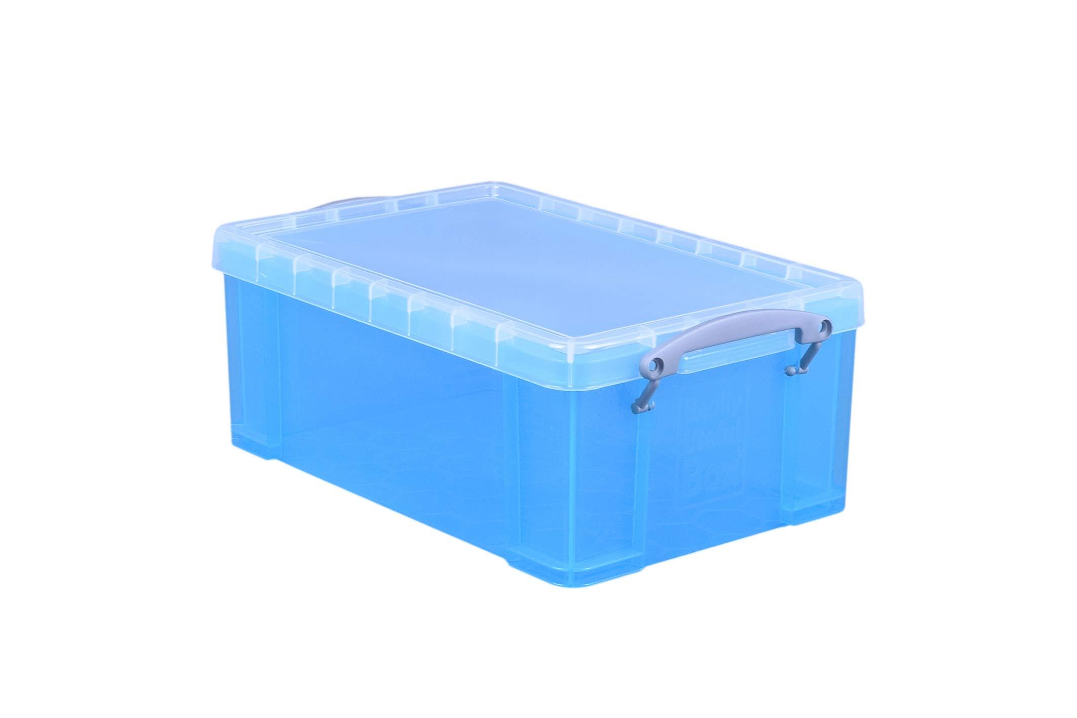 Really Useful Boxes UB9LHB Azul caja y organizador para almacenaje de archivos - Organizador de almacenaje (Azul, 784 g, 395 x 255 x 155 mm, 335 x 215 x 140 mm): Amazon.es: Oficina y papelería