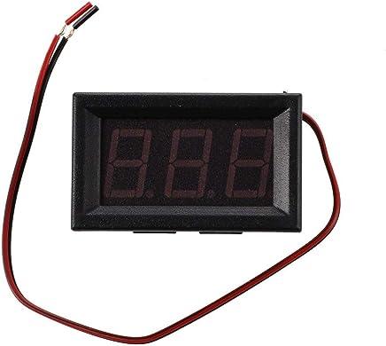 Besttse Digitales Voltmeter Amperemeter Gleichstrom 100 V 10 A Panel Amp Volt Spannung Strommesser Tester