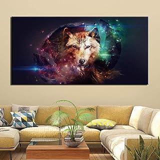 Xutongrui Lienzo Pintura Arte De La Pared Cartel Decoración Del Hogar Carteles E Impresiones Abstract Wolf Pictures For Living Room
